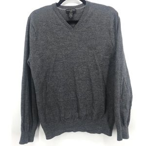 Banana republic 100% Merino wool v-neck sweater grey